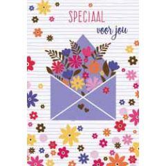 wenskaart - speciaal voor jou - bloemen