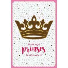wenskaart - voor mijn prinses ik hou van je