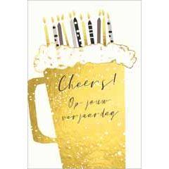 wenskaart adorable - cheers op jouw verjaardag - bier