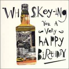 verjaardagskaart woodmansterne - whiskey -ing you a very happy birthday
