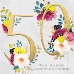 50 jaar - verjaardagskaart - van harte gefeliciteerd!