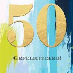 50 jaar - verjaardagskaart - gefeliciteerd!