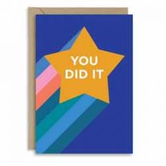wenskaart new graphics - you did it - ster