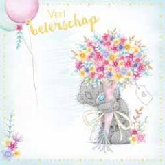 wenskaart me to you - veel beterschap - bloemen