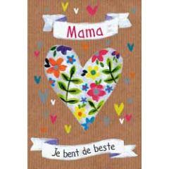 moederdagkaart - mama je bent de beste