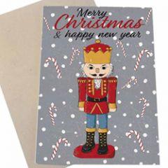 kerstkaart mouse & pen - kerst notenkraker