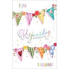 verjaardagskaart - fijne verjaardag toegewenst