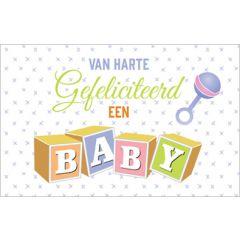 geboortekaartje - van harte gefeliciteerd een baby