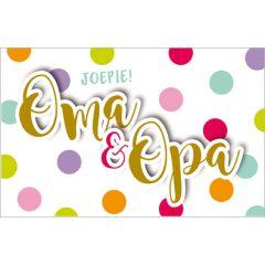 geboortekaartje - joepie! opa & oma