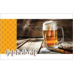 verjaardagskaart - gefeliciteerd - bier