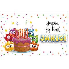verjaardagskaart - joepie, jij bent jarig