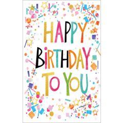 verjaardagskaart - happy birthday to you - met cadeau-envelop