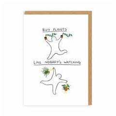 wenskaart ohh deer - buy plants like nobody's watching