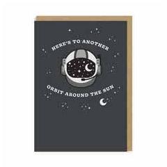 verjaardagskaart met patch - ohh deer - here's to another orbit around the sun