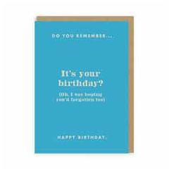 verjaardagskaart ohh deer - I was hoping you'd forgotten too, happy birthday