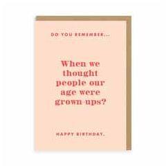wenskaart ohh deer - do you remember, happy birthday