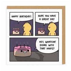 wenskaart ohh deer - happy birthday! - comic