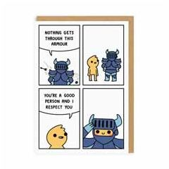 wenskaart ohh deer - nothing gets through this armour - comic