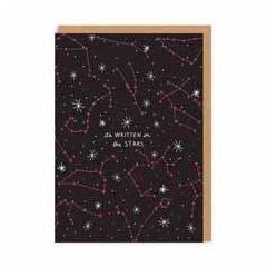wenskaart ohh deer - it's written in the stars