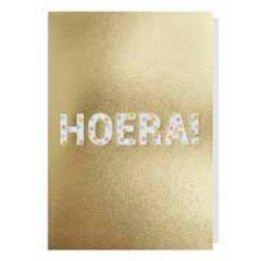 wenskaart - hoera! - confetti