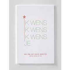 letterpress ansichtkaart met envelop - ik wens je een dag vol mooie momenten waarvan eentje met mij