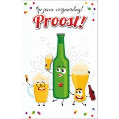 verjaardagskaart - op jouw verjaardag! proost - bier