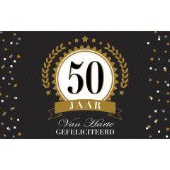 50 jaar - felicitatiekaart - van harte gefeliciteerd