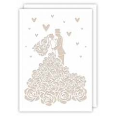 lasergesneden trouwkaart - bruidspaar