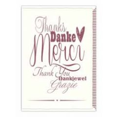 wenskaart quire - merci thank you dankjewel