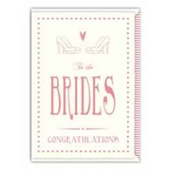 trouwkaart quire - to the brides congratulations - homohuwelijk