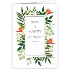 verjaardagskaart quire - have a happy birthday - bloemen oranje