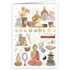 wenskaart quire - buddha