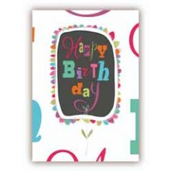 wenskaart quire - happy birthday