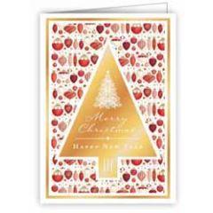 mini kerstkaart quire - merry christmas, happy new year - kerstboom