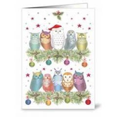 mini kerstkaart quire - uilen