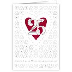 25 jaar - wenskaart quire - happy silver wedding anniversary