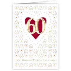 60 jaar - wenskaart quire - happy diamond wedding anniversary