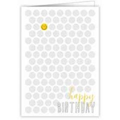 wenskaart quire - happy birthday - smiley