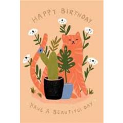 verjaardagskaart roger la borde - happy birthday  have a beautiful day - kat