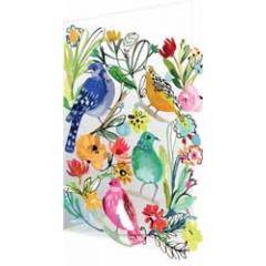 lasergesneden wenskaart roger la borde - vogels en bloemen
