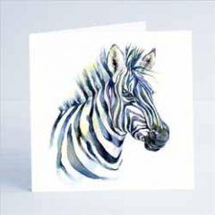 wenskaart sheila gill - zebra