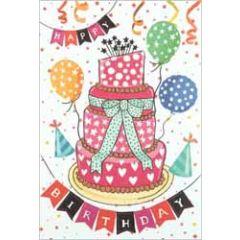 verjaardagskaart busquets - happy birthday - taart