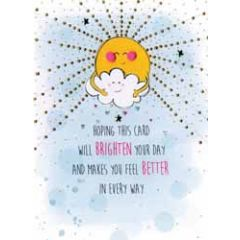 beterschapskaart - hoping this card will brighten your day