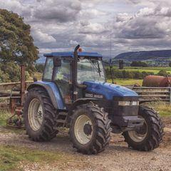wenskaart rapture - tractor