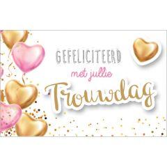 wenskaart ...jaar getrouwd - gefeliciteerd met jullie trouwdag - hartballonnen
