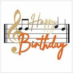 verjaardagskaart second nature - happy birthday - muzieknoten