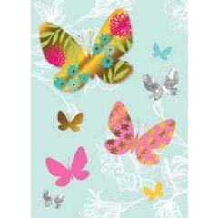 wenskaart - vlinders