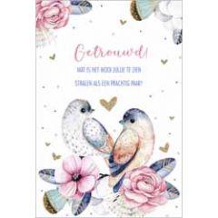 wenskaart lannoo - getrouwd! wat is het mooi jullie te zien stralen als een prachtig paar - vogels