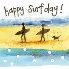felicitatiekaart alex clark - happy surf day