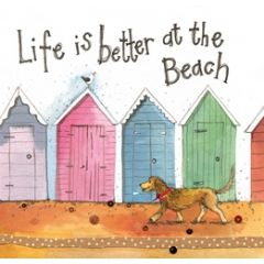 wenskaart alex clark - life is better at the beach